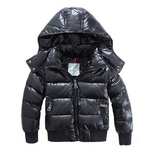 Hot Stil Moncler Kids Hooded dunjakker Svart DG9812 [0617]