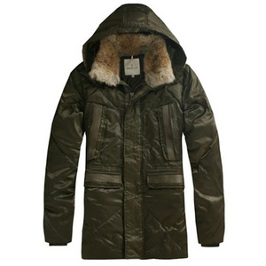DG3882 Mens Moncler Long Coats Hooded Army Green [23d2]